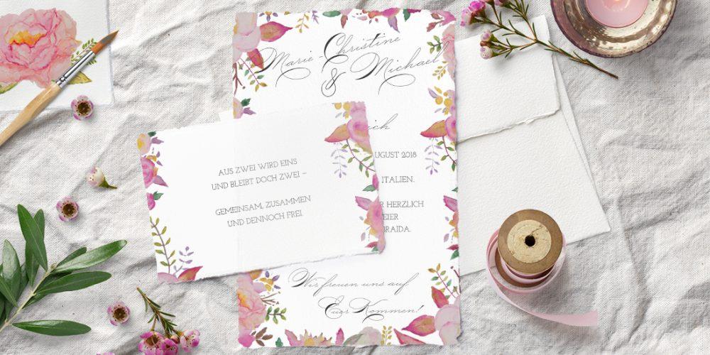 Eine blumige Einladung