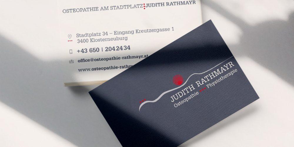 Logo | Visitenkarte | Judith Rahmayr | Osteopathie | Physiotherapie | Klosterneuburg