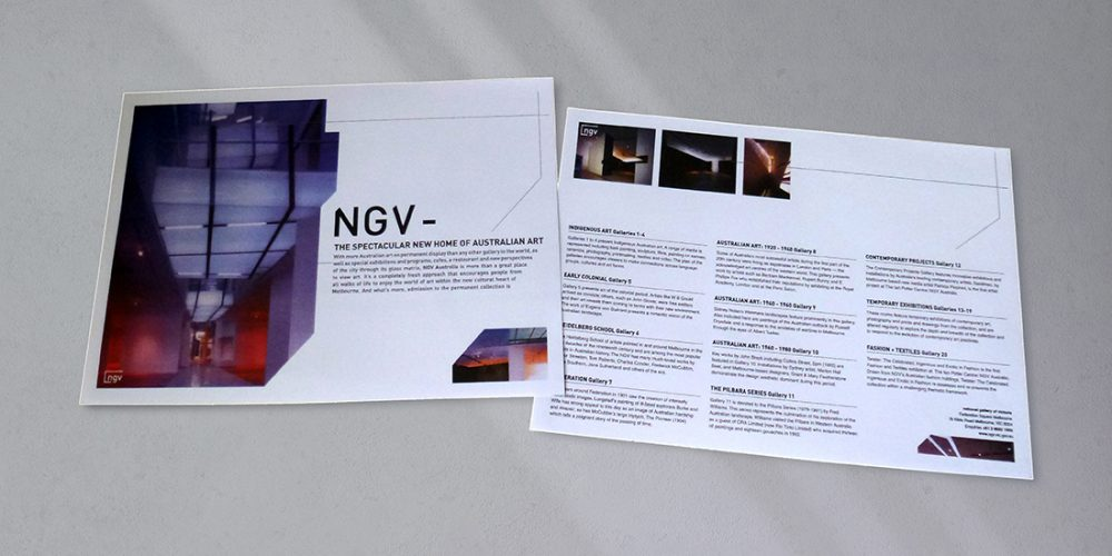 Ausstellungs-Flyer - National Gallery Victoria
